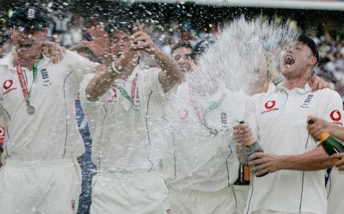 The Ashes 2005 - Champagne by Mirrorpix
