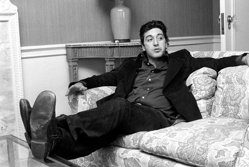 Actor Al Pacino at the Dorchester Hotel, March 1974 by Mirrorpix