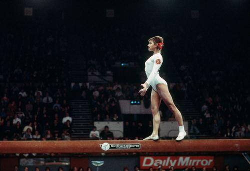 Olga Korbut gymnast, 1973 by Mirrorpix