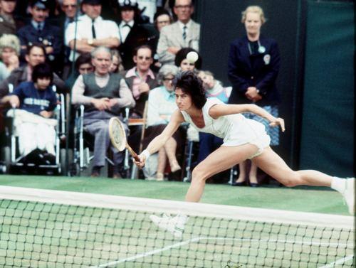 Virginia Wade tennis Wimbledon, 1977 by Mirrorpix