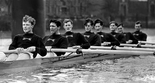 Oxford University boat race crew, 1955 by Mirrorpix