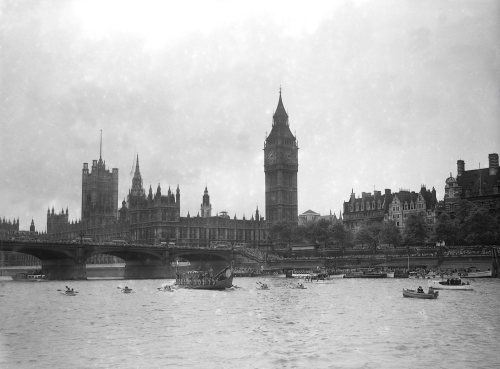 Viking Ship sails up River Thames to Richmond by Mirrorpix