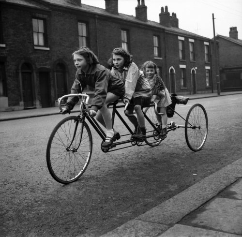 Tricycle For 3, 1952 by Mirrorpix