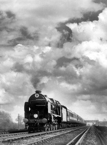 English Railways. Express train by Mirrorpix
