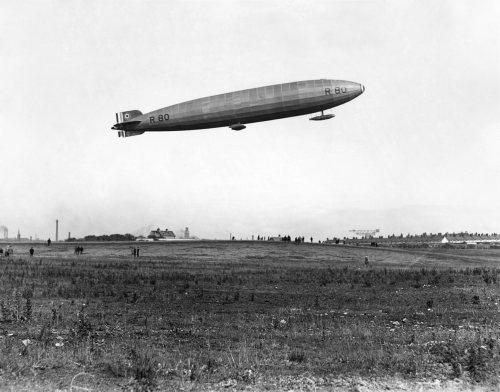 Launch of the British airship R80 at Barrow, 1921 by Mirrorpix