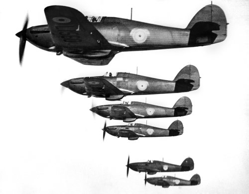 R.A.F. Hawker Hurricanes, 1938 by Mirrorpix