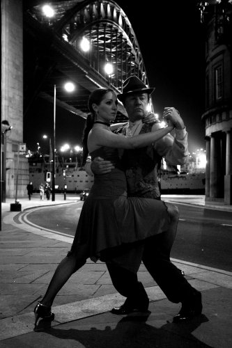 Tango dancing by Liliana Tolomei and Carlos El Tordo by Mirrorpix
