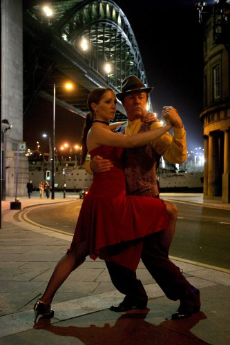 Tango dancing by Liliana Tolomei and Carlos El Tordo by Mirrorpix