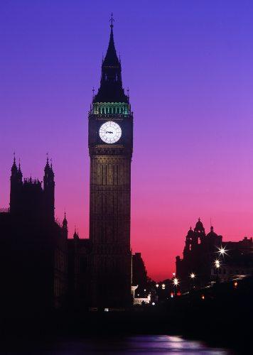 Big Ben at dusk London England by Mirrorpix