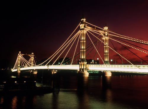Albert Bridge, London 1980 by Mirrorpix