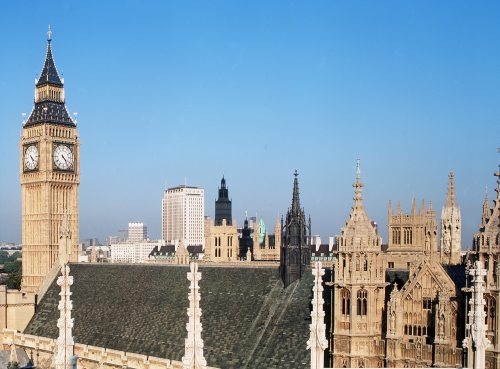 Big Ben and skyline, London by Mirrorpix