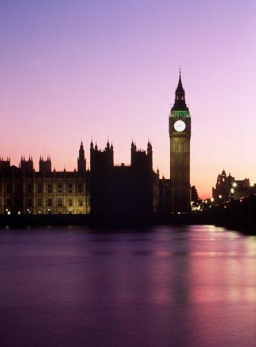 Big Ben at dusk, London by Mirrorpix