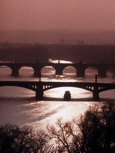 Czech Republic Prague View of Vltava River by Mirrorpix