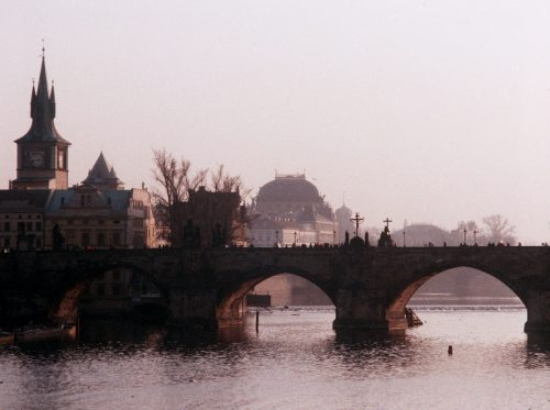 Czech Republic Prague View of Charles Bridge by Mirrorpix