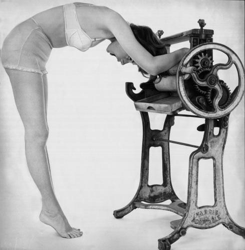 Woman wearing underwear by Mirrorpix