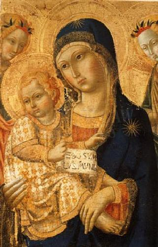 Virgin and Child with Angels by Sano di Pietro