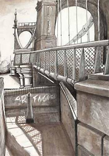 London Bridges & the Gherkin - Hammersmith Bridge by Mark Raggett