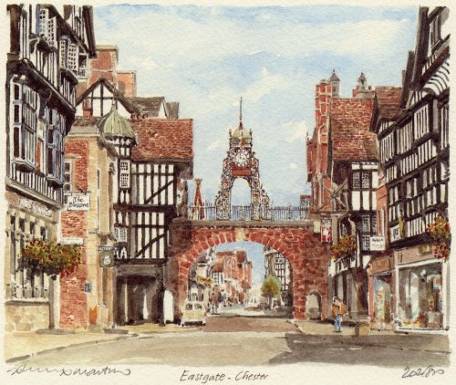 Chester - Eastgate by Philip Martin