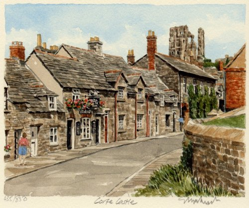 Corfe Castle - from village by Glyn Martin