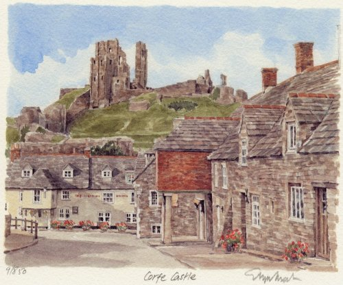 Corfe Castle - Greyhound Inn by Glyn Martin