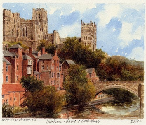 Durham - Castle and Cathedral by Philip Martin