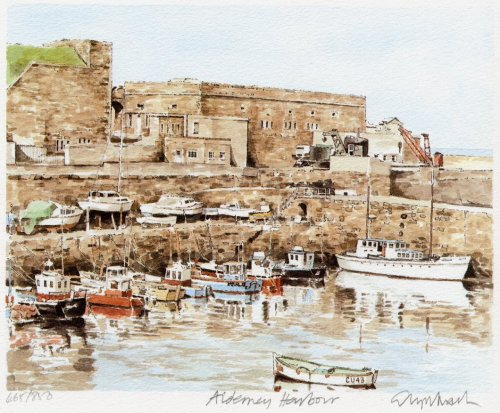 Alderney - Harbour by Glyn Martin