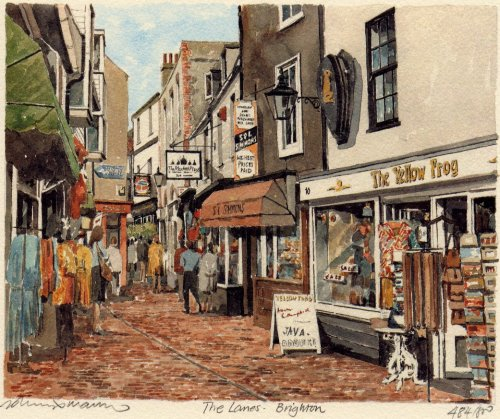 Brighton - The Lanes by Philip Martin