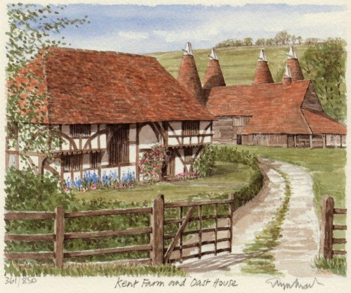Oast House & Kent Cottage by Glyn Martin
