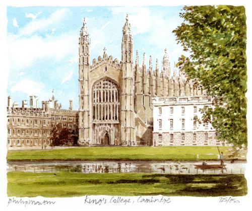Cambridge - Kings College by Philip Martin