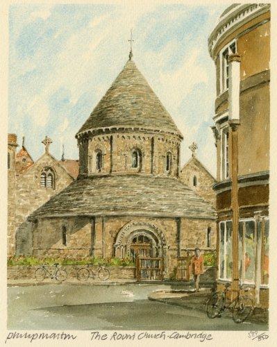 Cambridge - Round Church by Philip Martin