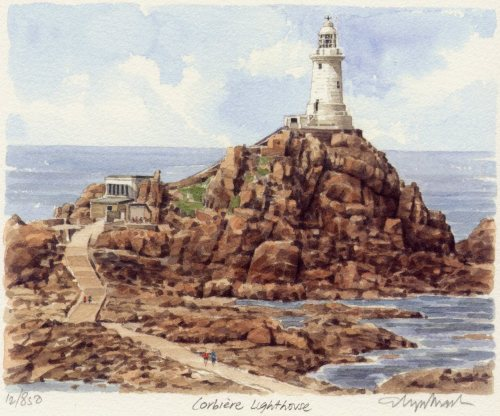 Jersey - Corbiere Lighthouse by Glyn Martin
