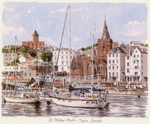St. Peter Port - Town Church by Glyn Martin