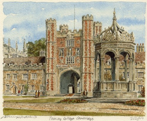 Cambridge - Trinity College by Philip Martin