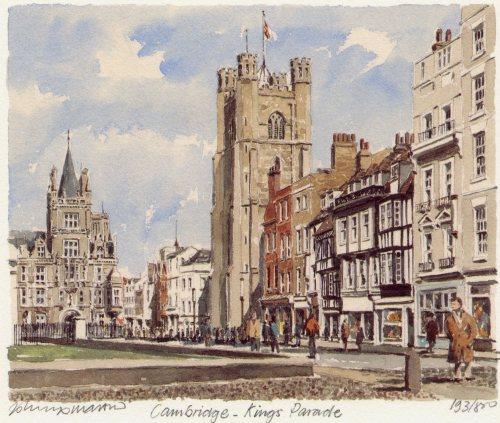 Cambridge - King's Parade by Philip Martin