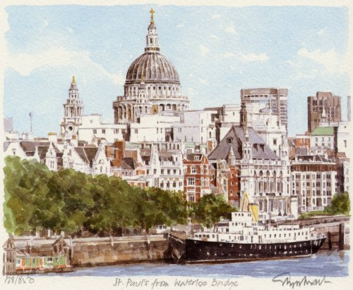 St. Paul's from the Thames by Glyn Martin