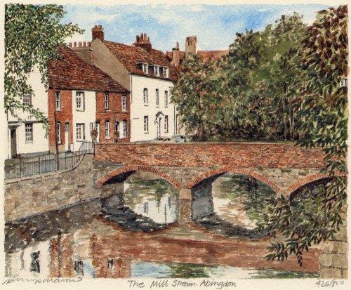 Abingdon - Mill Stream by Philip Martin