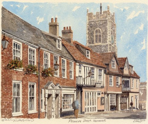 Norwich - Prince's Street by Philip Martin