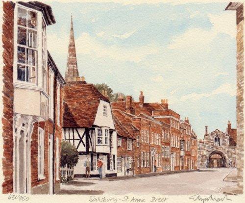 Salisbury - St. Anne Street by Glyn Martin