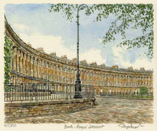 Bath - Royal Crescent by Glyn Martin