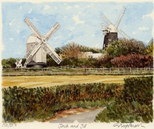 Jack and Jill Windmills by Glyn Martin