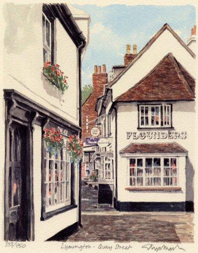 Lymington - Quay Street by Glyn Martin
