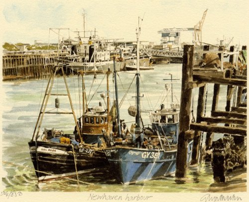 Newhaven Harbour by Glyn Martin