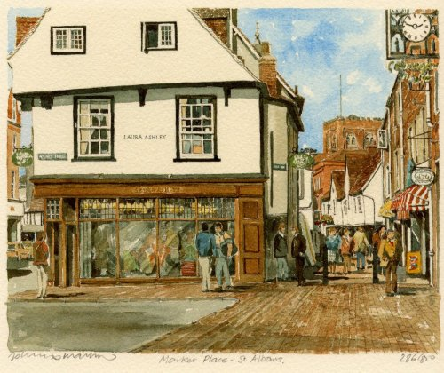 St. Albans - Market Place by Philip Martin
