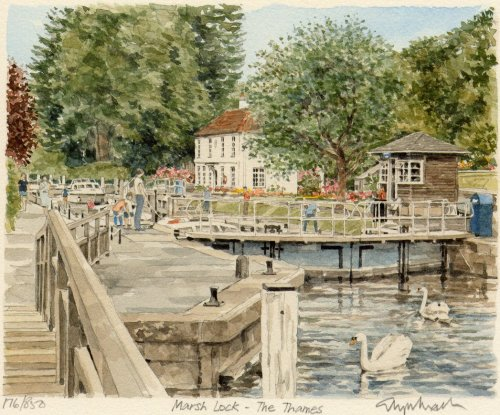 Marsh Lock by Glyn Martin