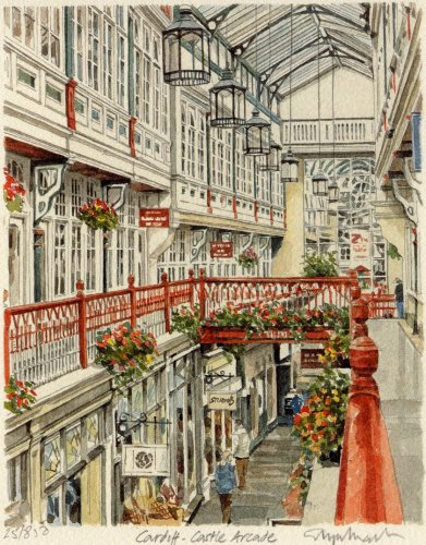 Cardiff - Castle Arcade by Glyn Martin