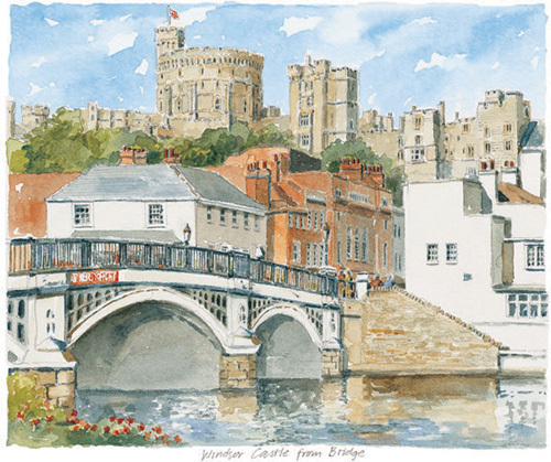 Windsor - Castle & Bridge by Philip Martin