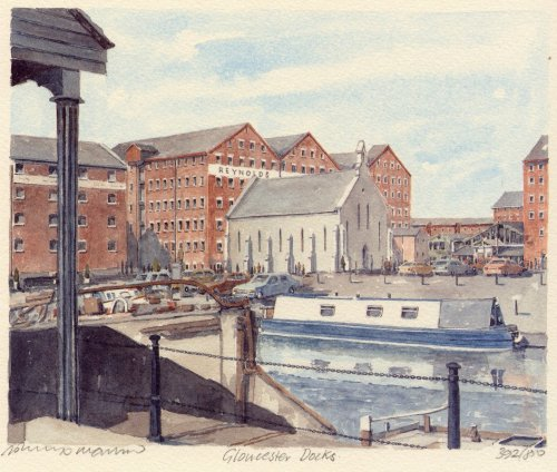Gloucester Docks by Philip Martin