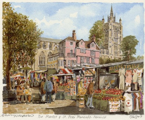 Norwich-Mkt.&St.Peter Mancroft by Philip Martin