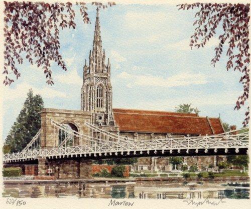 Marlow - Church & Bridge by Glyn Martin