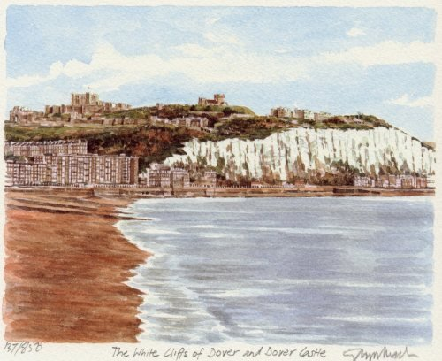 Dover - White Cliffs & Castle by Glyn Martin